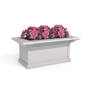 Yorkshire 2 foot window box with pink flowers