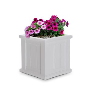 """Cape Cod 14"""" x 14"""" Planter with flowers"""